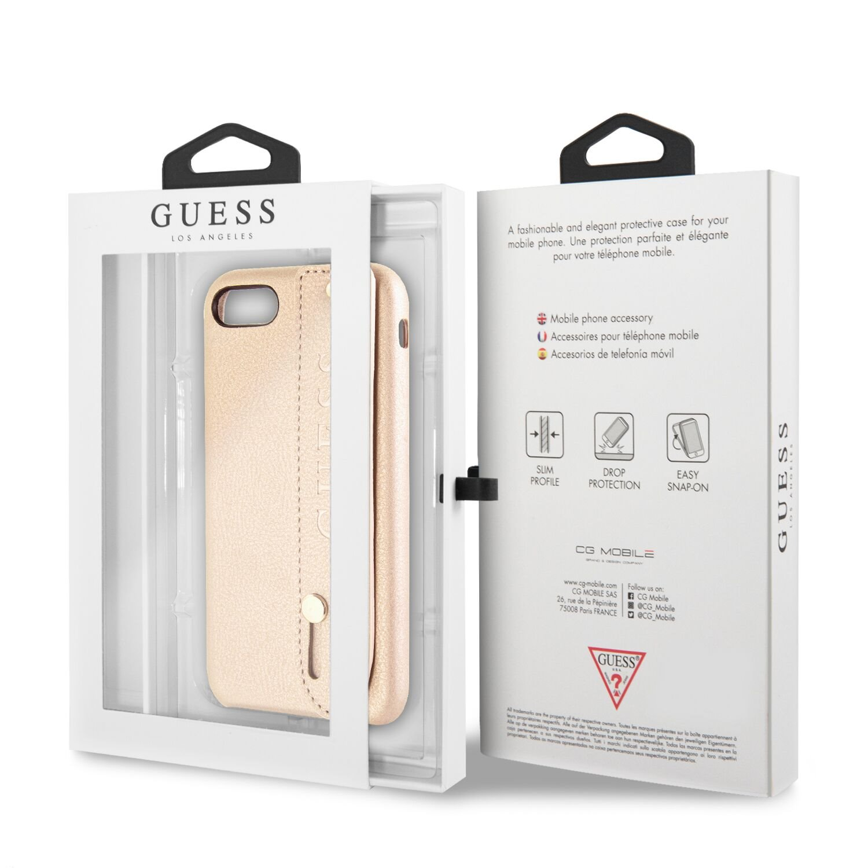 Guess Saffiano Strap GUHCI8SBSBE Pouzdro pro Apple iPhone 7/8 beige