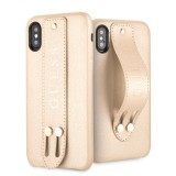 Guess Saffiano Strap GUHCPXSBSBE Pouzdro pro Apple iPhone X/XS beige