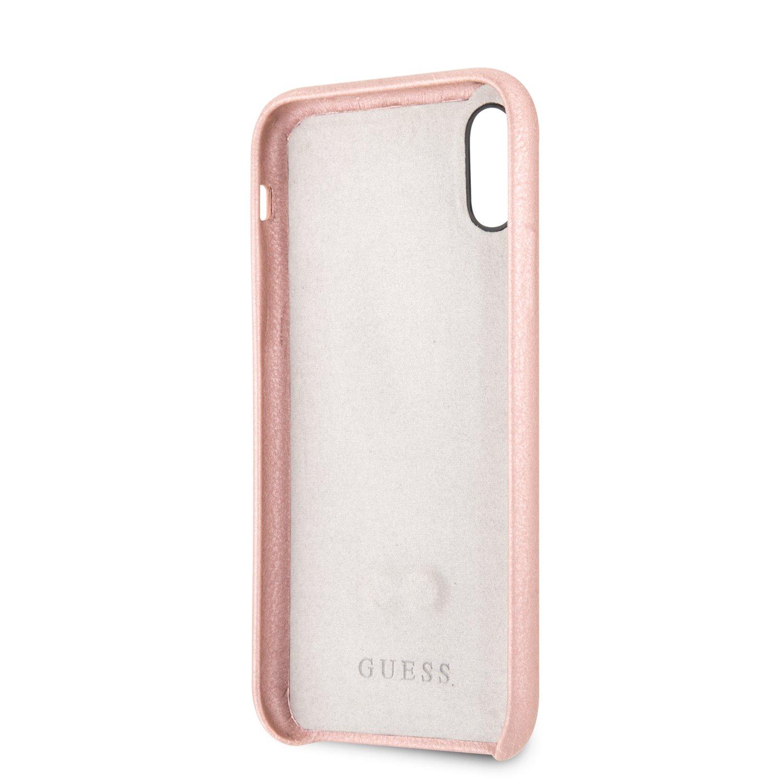 Guess Saffiano Strap GUHCPXSBSRO Pouzdro pro Apple iPhone X/XS rose