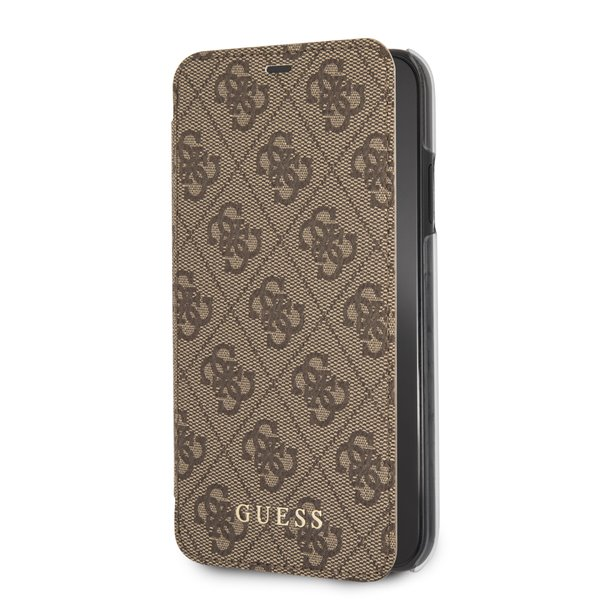 Guess Charms 4G pouzdro flip GUFLBKI61GF4GBR pro Apple iPhone XR brown