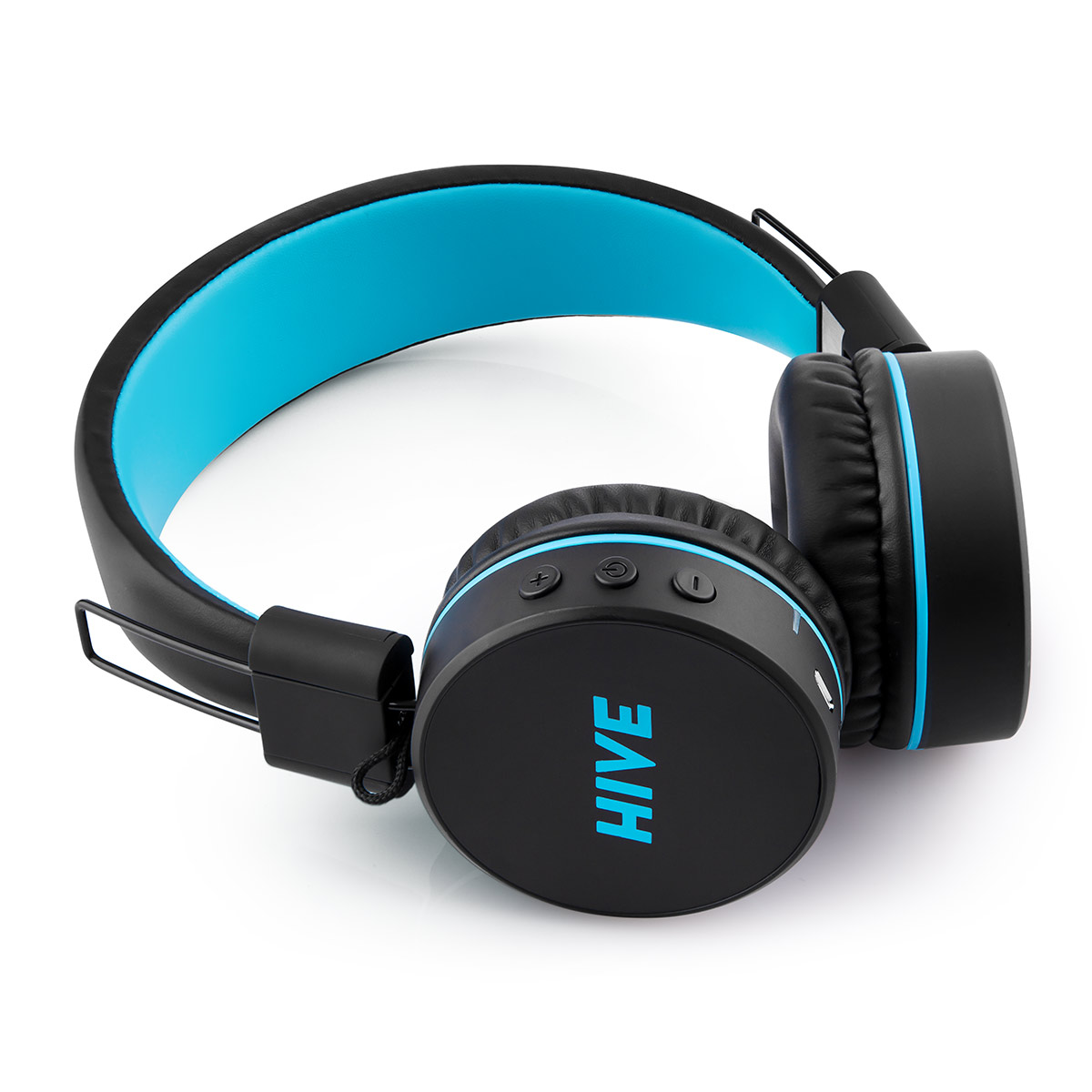 Bezdrátová sluchátka Niceboy HIVE černá/modrá
