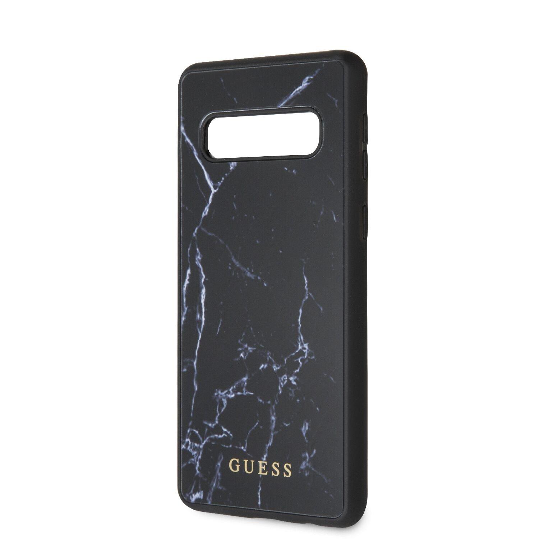 Guess Marble Zadní kryt GUHCS10HYMABK pro Samsung Galaxy S10 black