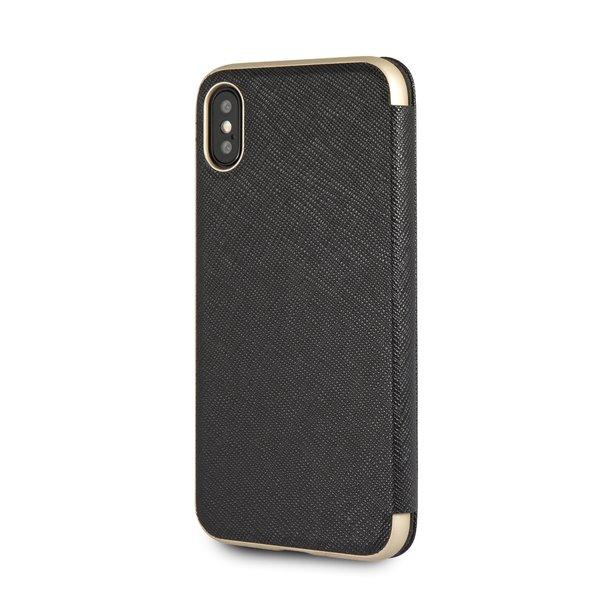 Guess Kaia flipové pouzdro GUFLBKI65KASABK pro Apple iPhone XS Max black