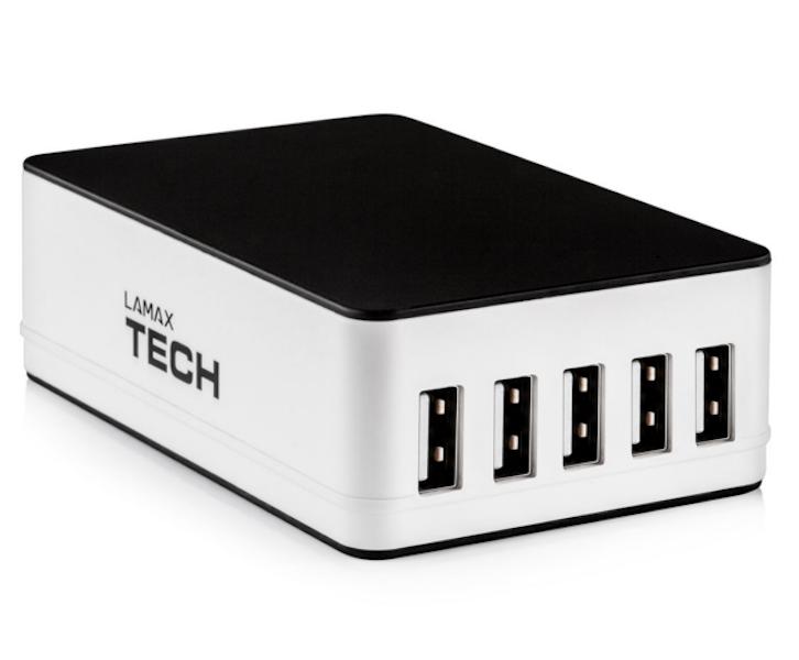 Chytrý dobíjecí adaptér LAMAX USB Smart Charger 6.5A černá/bílá