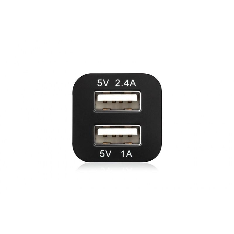 Autonabíječka LAMAX USB Car Charger 3.4A černá/bílá