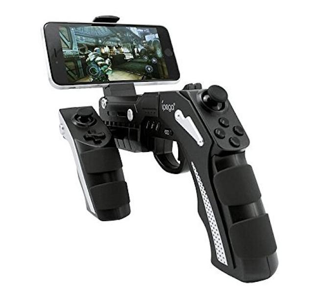 Bezdrátový ovladač ve tvaru pistole iPega 9057 Phantom ShoX černá/bílá
