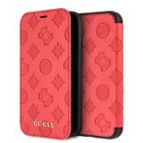 Guess Peony GULFPXPELRE flipové pouzdro pro Apple iPhone X/XS red