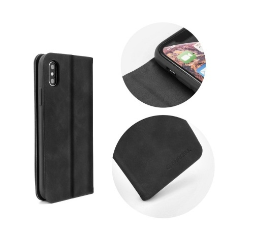 Forcell SILK flipové pouzdro pro Samsung Galaxy A7 2018, černé