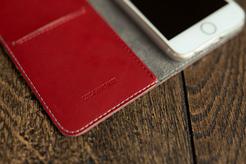 Pouzdro typu kniha FIXED FIT pro Samsung Galaxy A70, červené