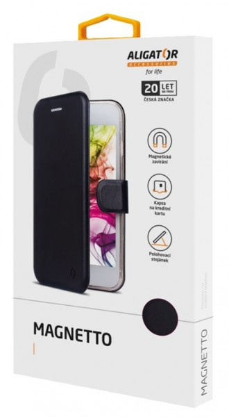 Flipové pouzdro ALIGATOR Magnetto pro Xiaomi Mi 9 SE, Black
