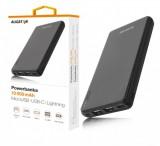 Powerbanka ALIGATOR PB1000, 10000mAh 3v1, micro/iPh/USB-C, černá