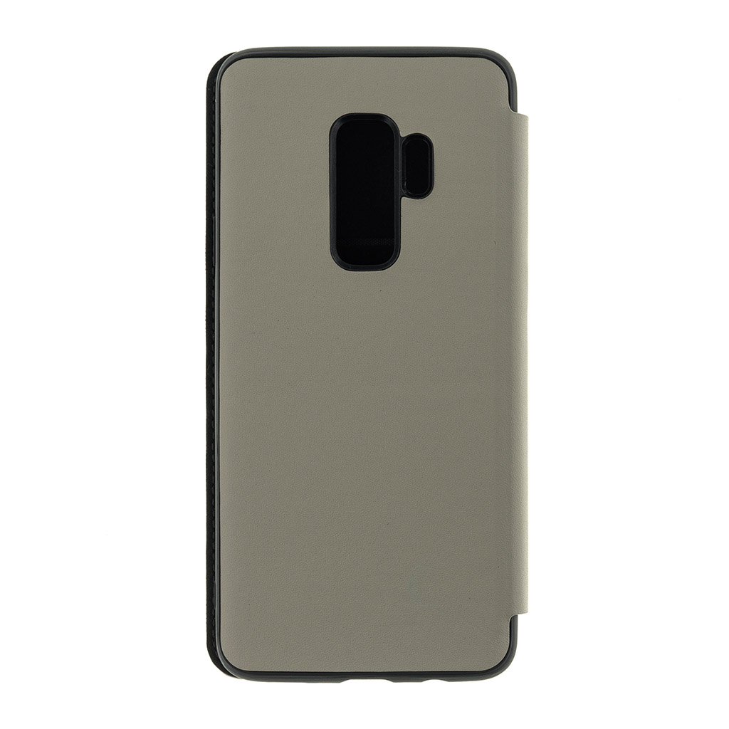 BMFLBKS9LLLST BMW Signature Real Leather Book Case Taupe pro Samsung G965 Galaxy S9 Plus