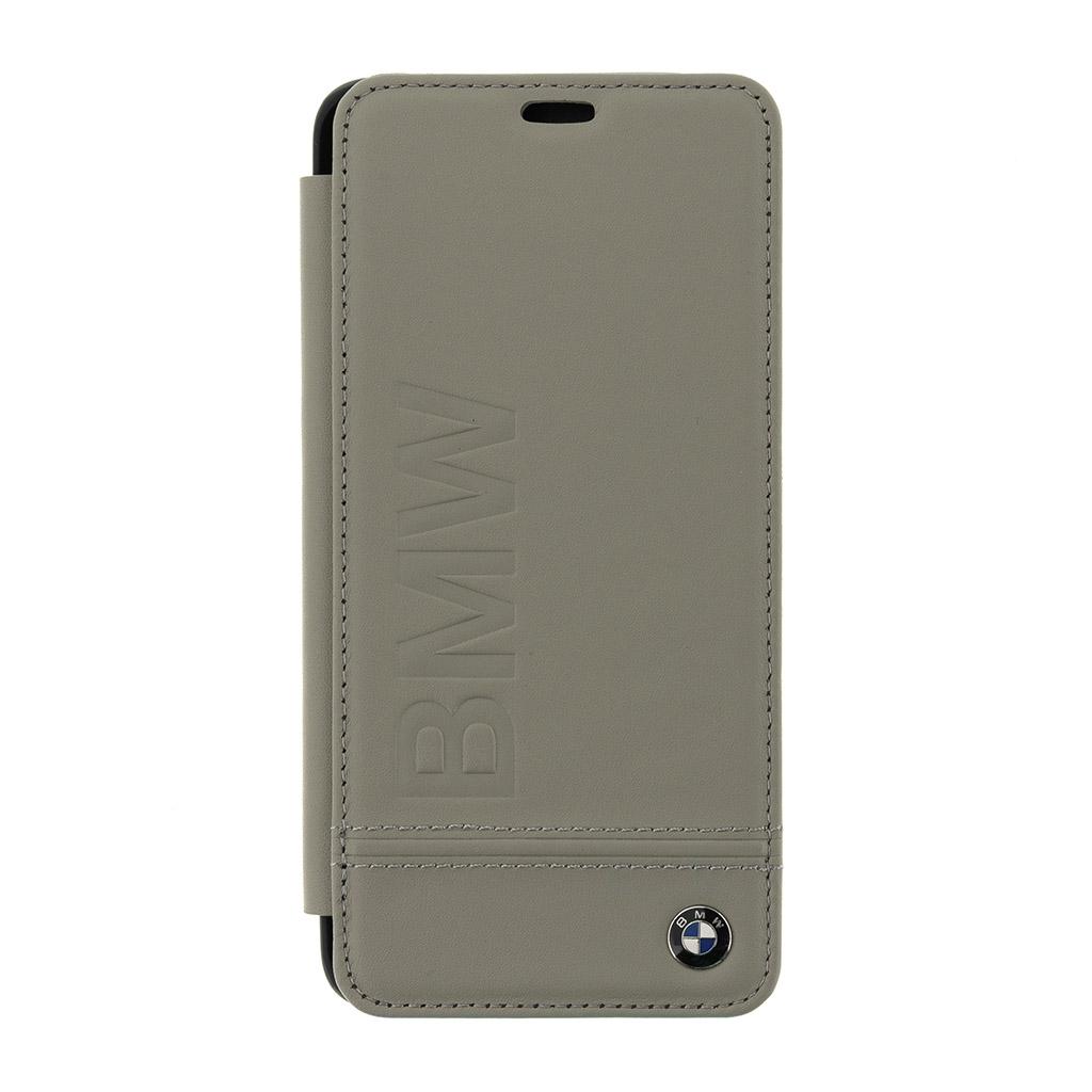 BMW Signature BMFLBKS9LLLST flipové pouzdro pro Samsung Galaxy S9+ taupe