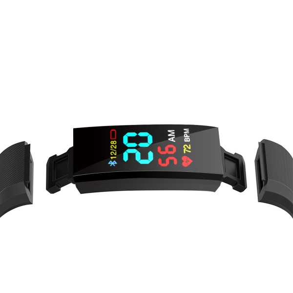 Fitness náramek EB04, IP67 Black