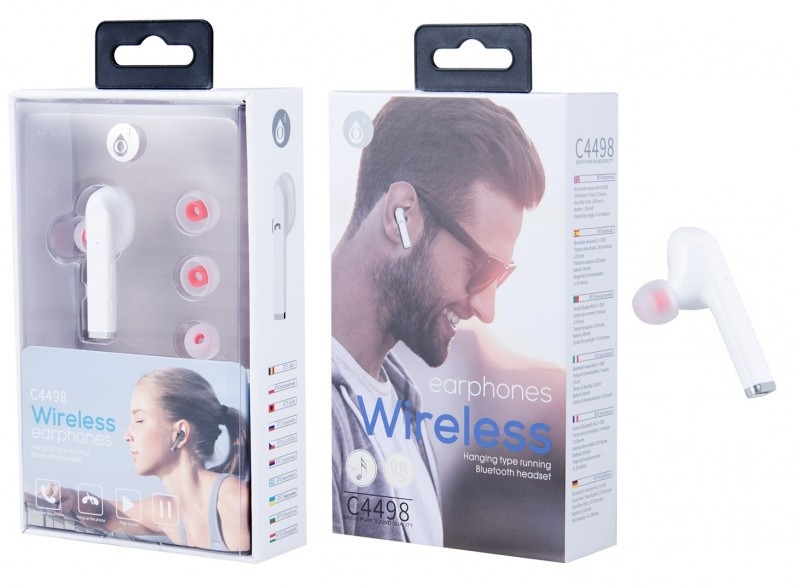 Bluetooth Headset PLUS C4498, white