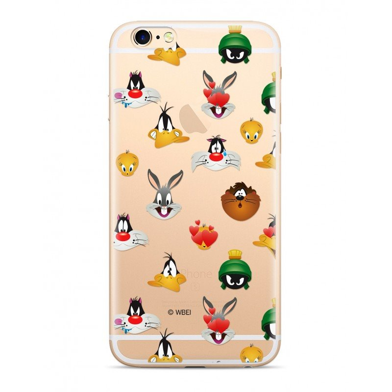 Zadní kryt Warner Bros Looney Tunes 007 pro Apple iPhone XS, transparent