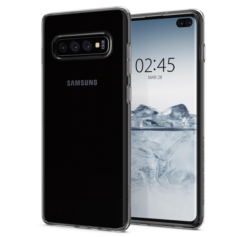 Ochranný kryt Spigen Liquid Crystal pro Samsung Galaxy S10 plus, transparentní