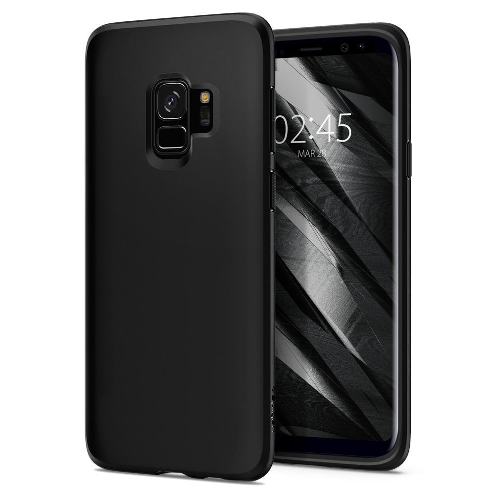 Ochranný kryt Spigen Liquid Crystal pro Samsung Galaxy S9, matný černý