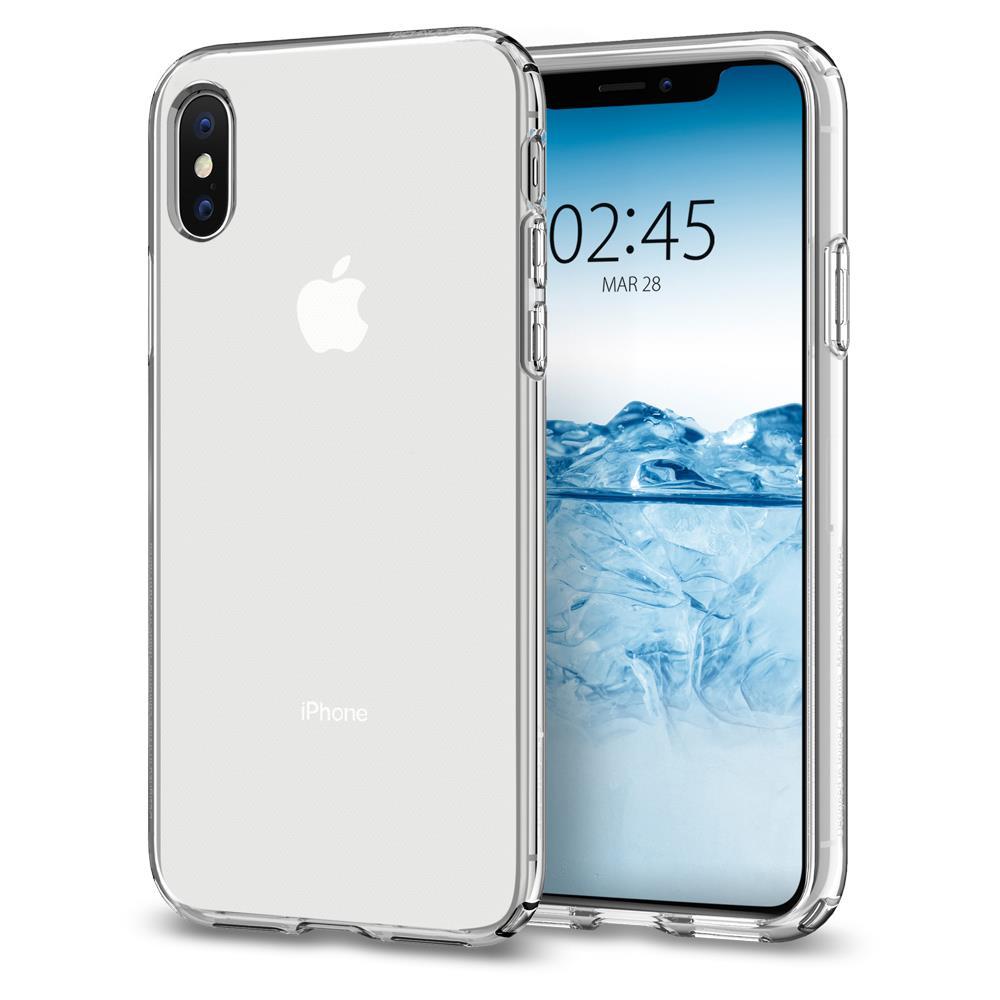 Ochranný kryt Spigen Liquid Crystal pro Apple iPhone XS/X, transparentní