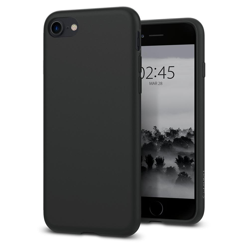 Ochranný kryt Spigen Liquid Crystal pro Apple iPhone 8/7, matný černý