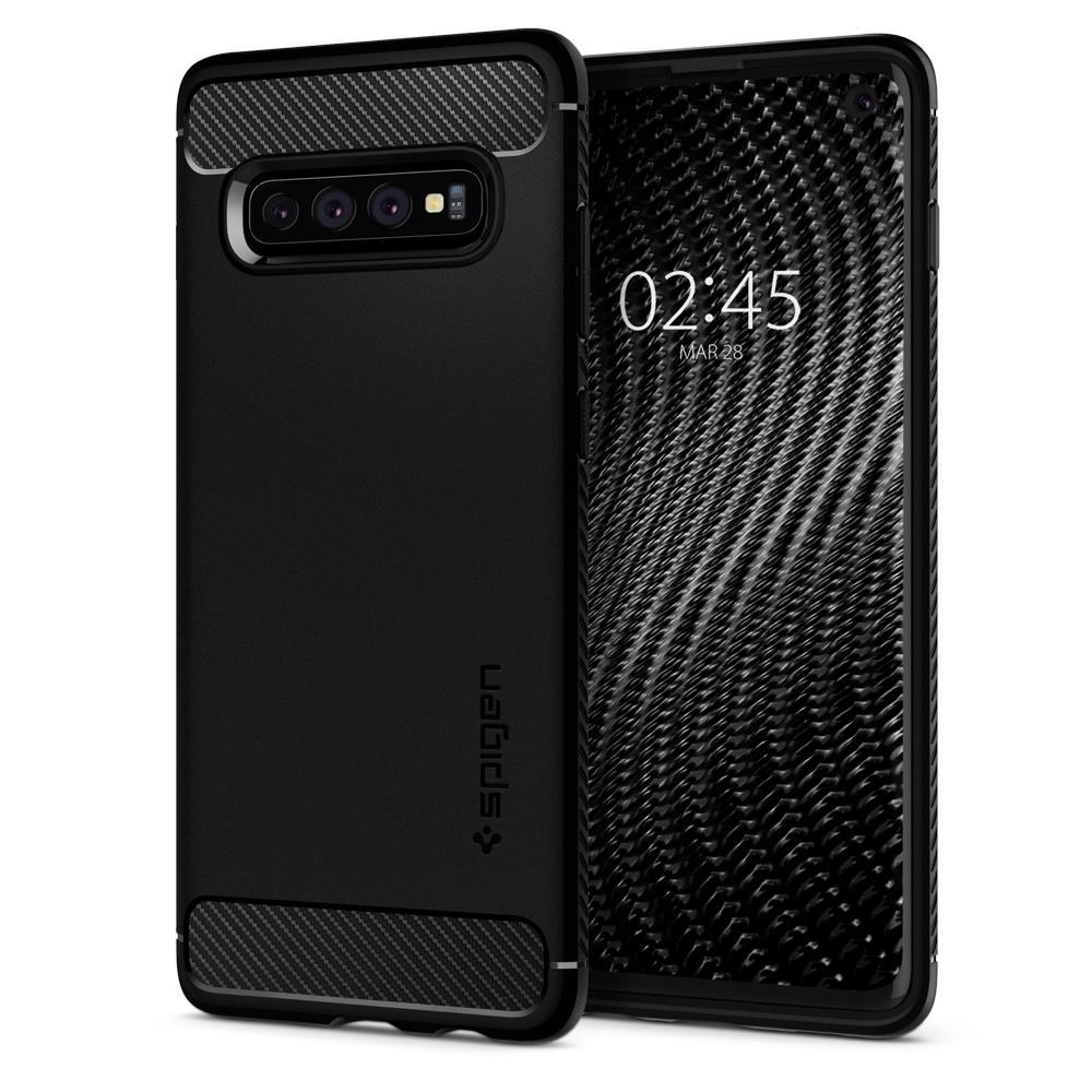 Ochranný kryt Spigen Rugged Armor pro Samsung Galaxy S10, černý