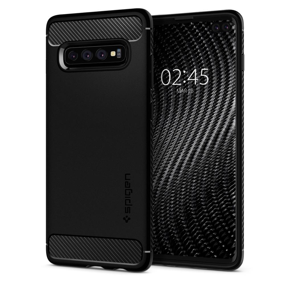Ochranný kryt Spigen Rugged Armor pro Samsung Galaxy S10 plus, černý