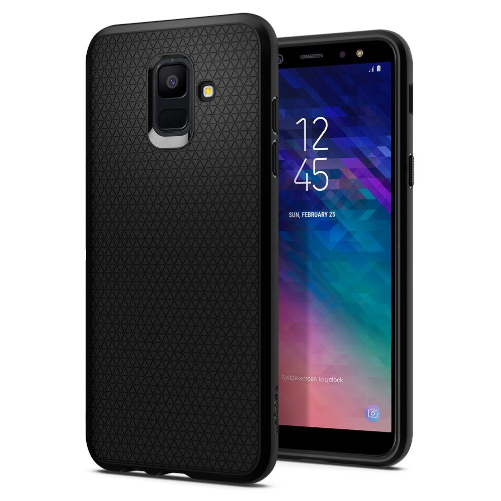 Ochranný kryt Spigen Liquid Air pro Samsung Galaxy A6 (2018), Black