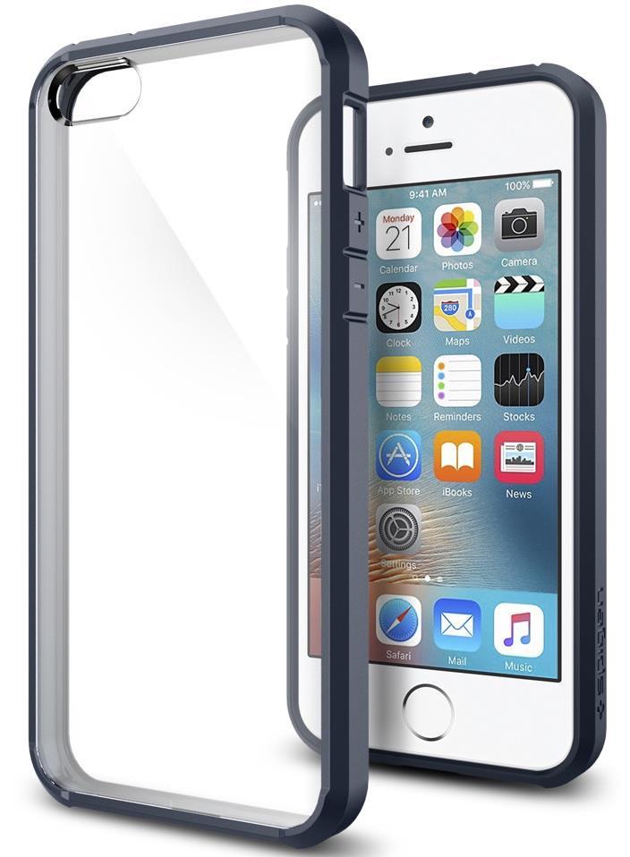 Ochranný kryt Spigen Ultra Hybrid pro Apple iPhone SE/5S/5, metalický