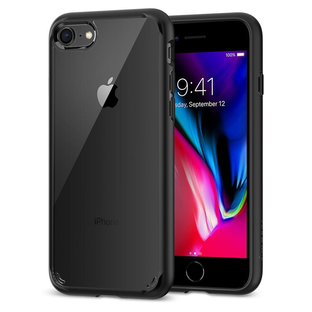Ochranný kryt Spigen Ultra Hybrid 2 pro Apple iPhone 7/8, transparentní