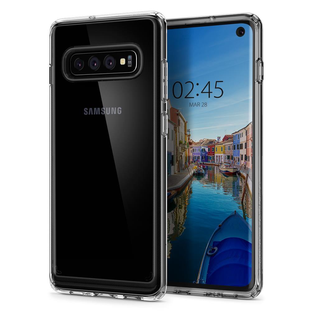 Ochranný kryt Spigen Crystal Hybrid pro Samsung Galaxy S10, transparentní