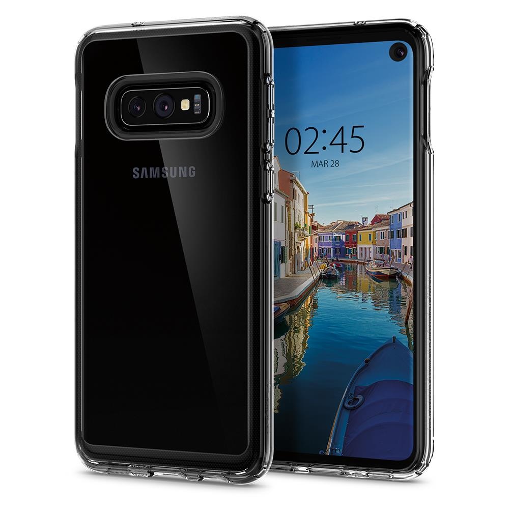 Ochranný kryt Spigen Crystal Hybrid pro Samsung Galaxy S10e, transparentní