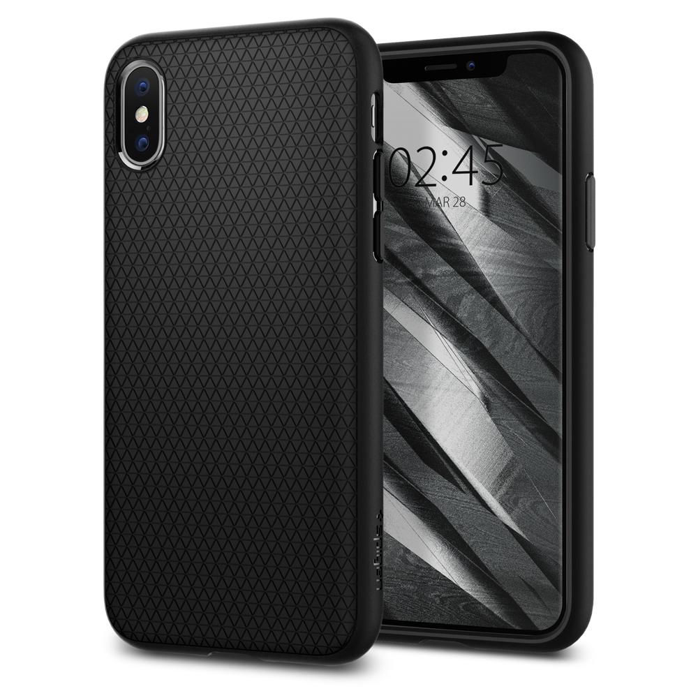 Ochranný kryt Spigen Liquid Air pro Apple iPhone XS/X, černý