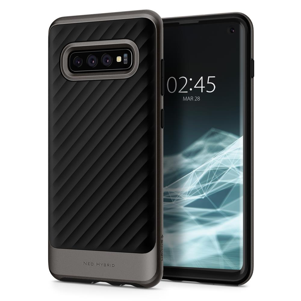 Ochranný kryt Spigen Neo Hybrid pro Samsung Galaxy S10, metalický