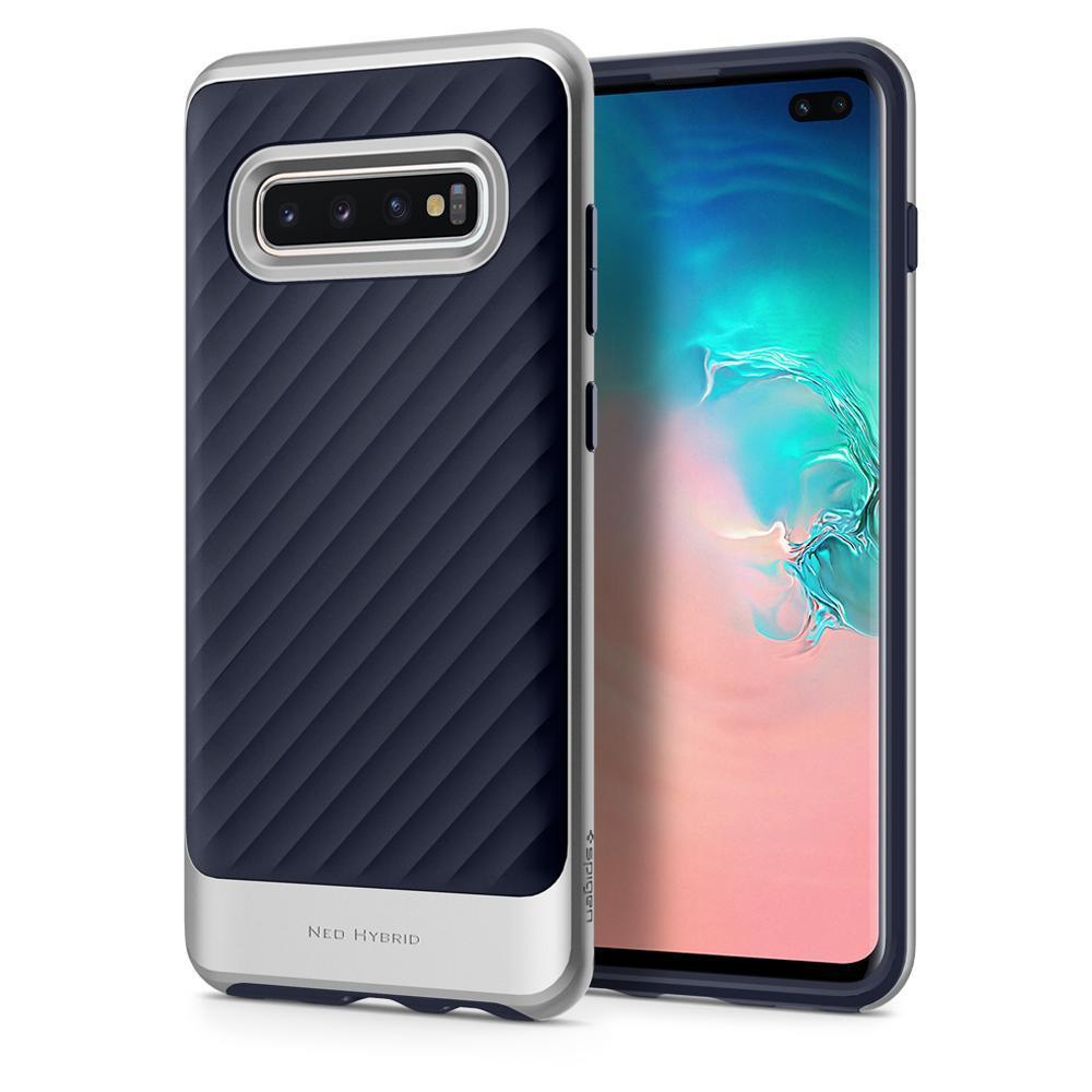 Ochranný kryt Spigen Neo Hybrid pro Samsung Galaxy S10 plus, stříbrný
