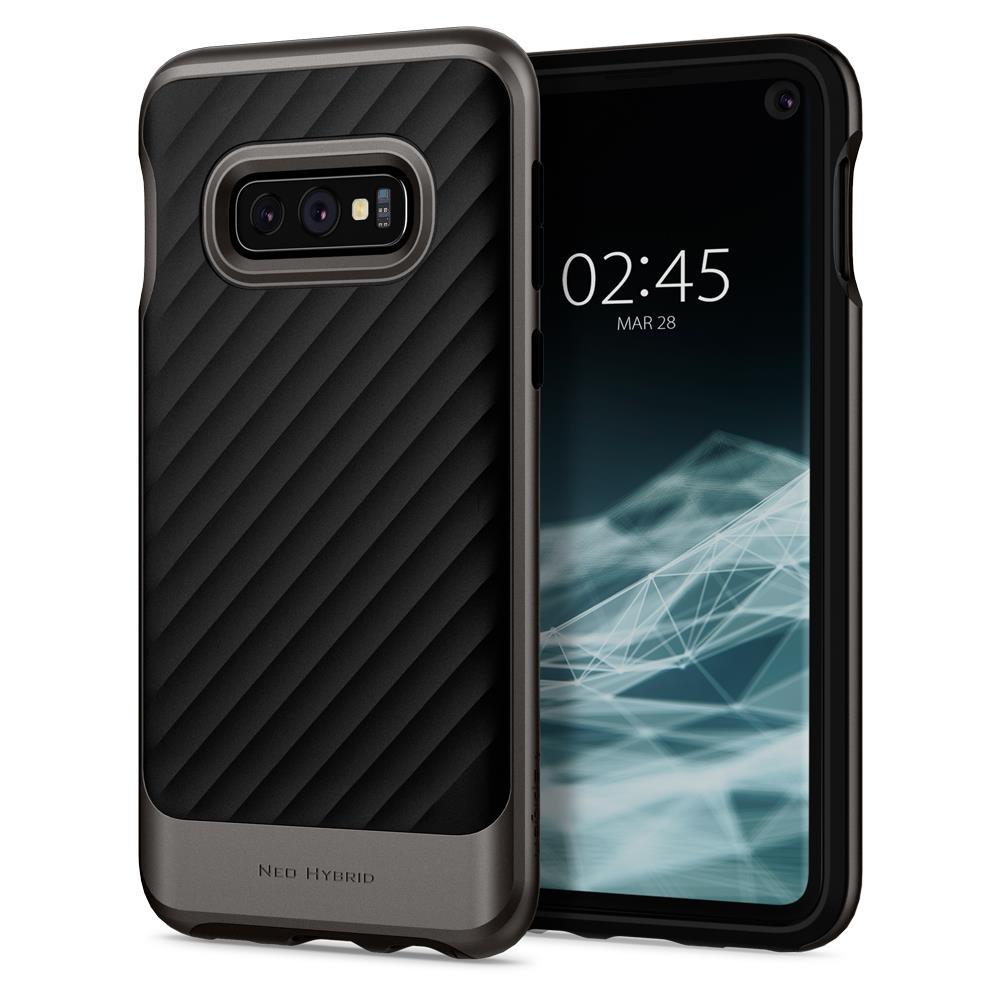 Ochranný kryt Spigen Neo Hybrid pro Samsung Galaxy S10e, metalický