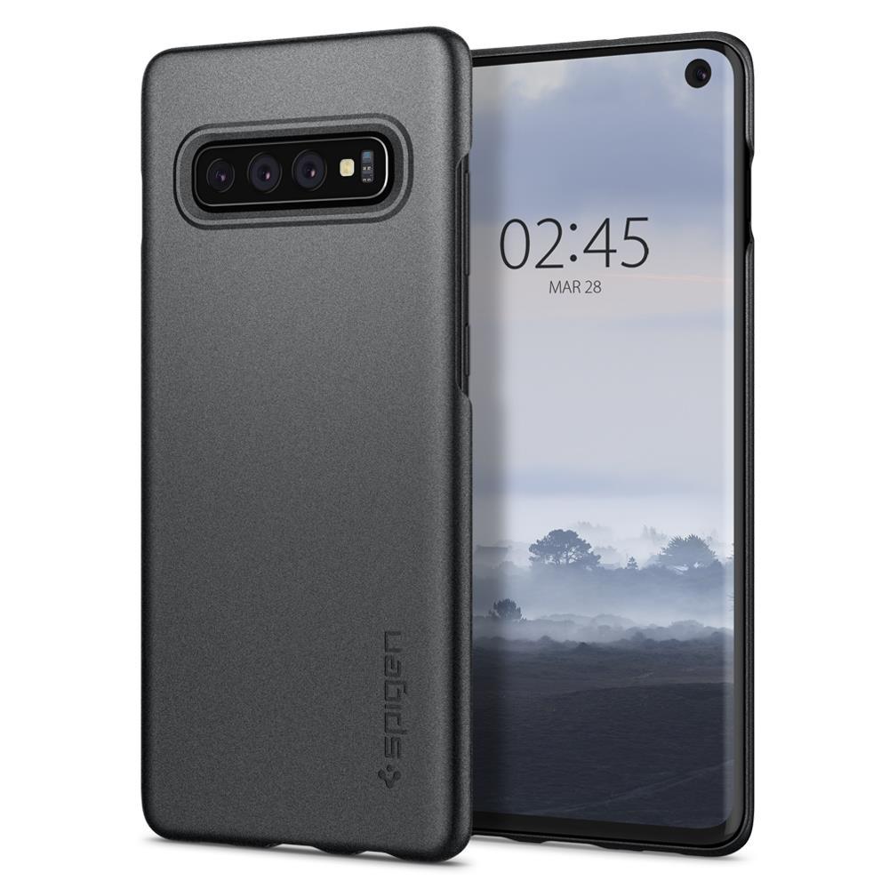 Ochranný kryt Spigen Thin Fit pro Samsung Galaxy S10, šedý