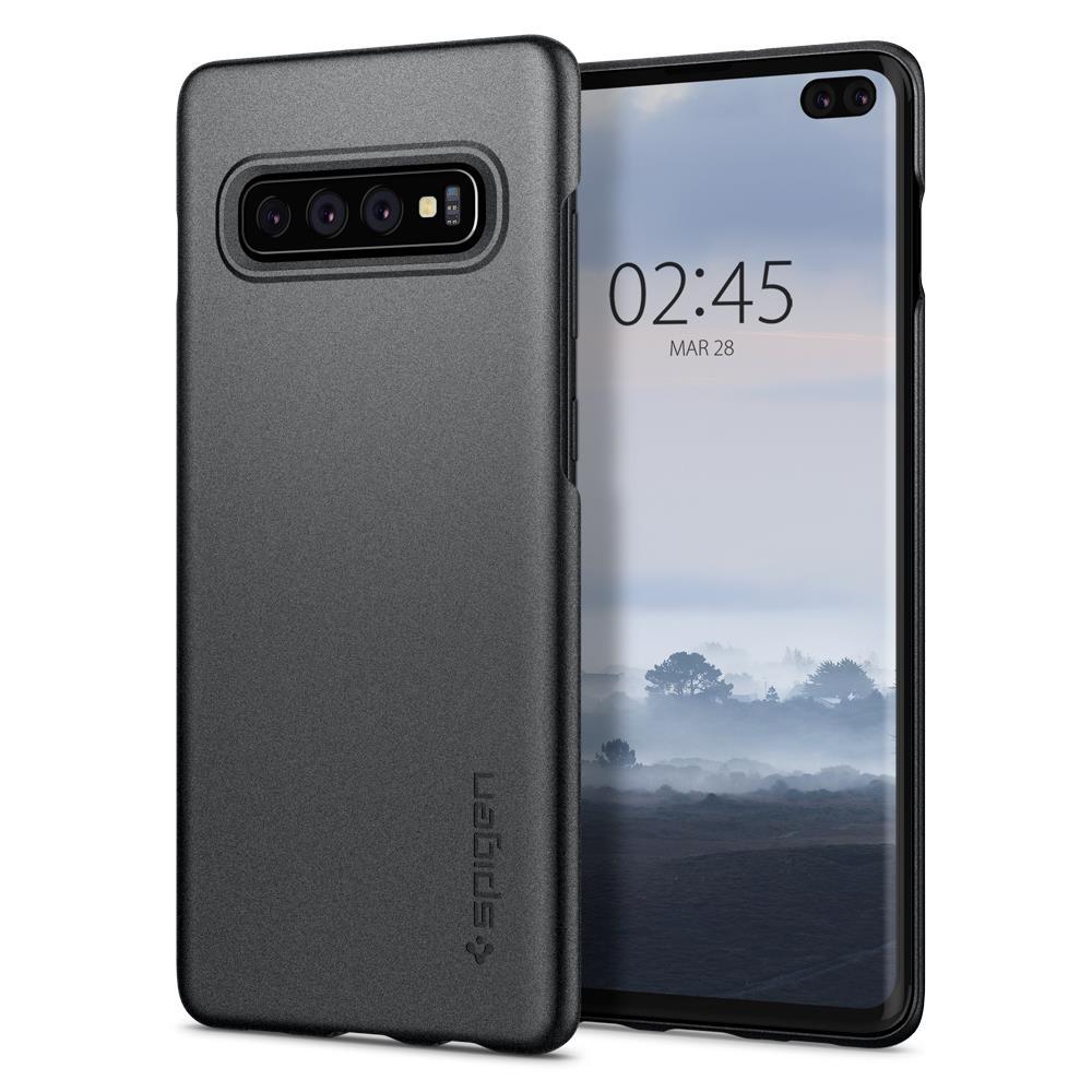 Ochranný kryt Spigen Thin Fit pro Samsung Galaxy S10 plus, šedý