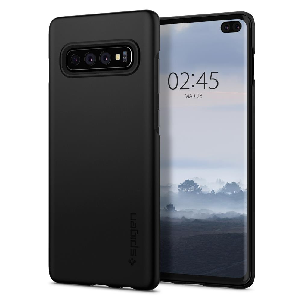 Ochranný kryt Spigen Thin Fit pro Samsung Galaxy S10 plus, černý