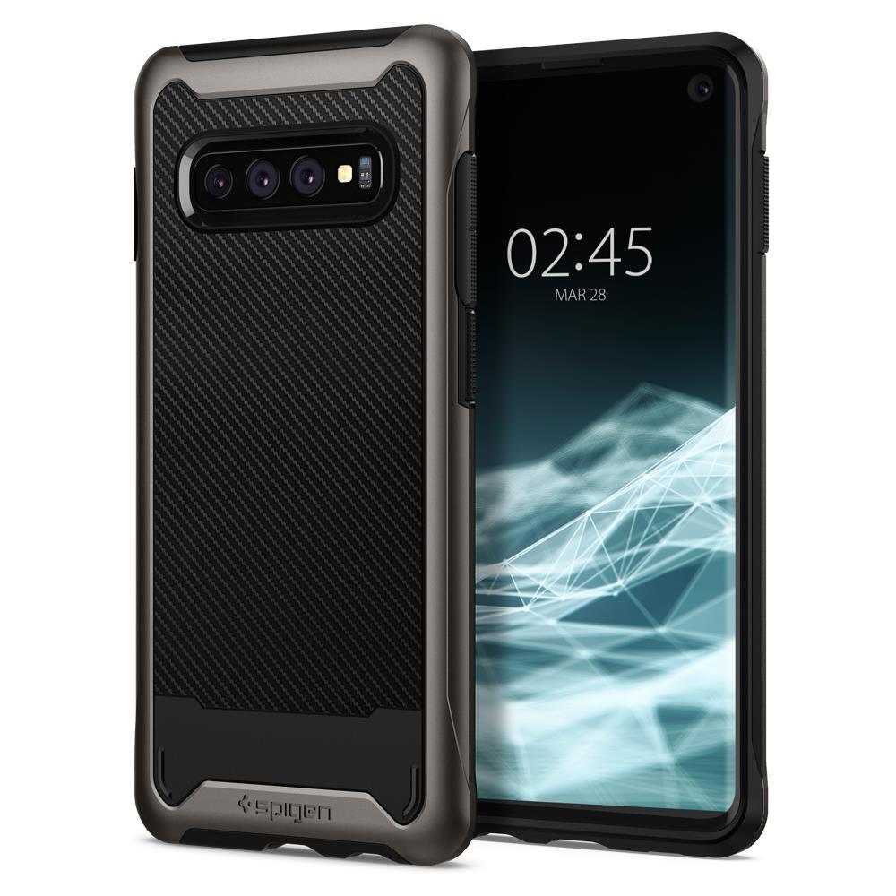 Ochranný kryt Spigen Hybrid NX pro Samsung Galaxy S10, metalický