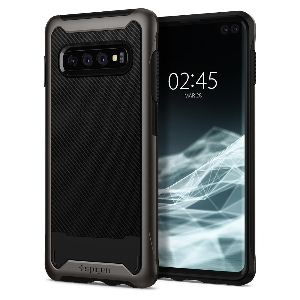 Ochranný kryt Spigen Hybrid NX pro Samsung Galaxy S10 plus, metalický