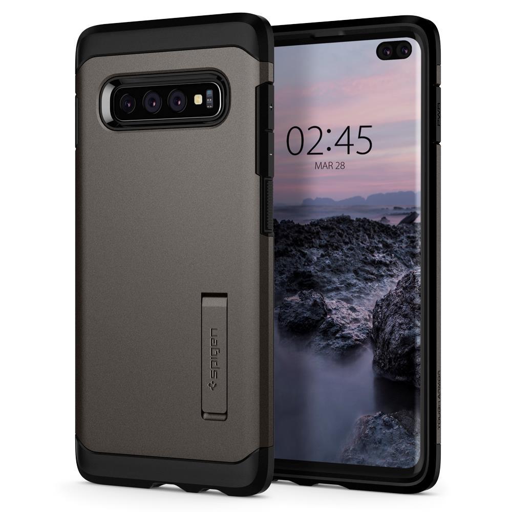 Ochranný kryt Spigen Tough Armor pro Samsung Galaxy S10 plus, metalický