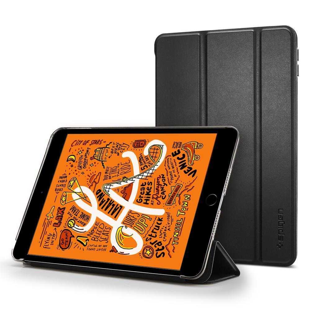 Flipové pouzdro Spigen Smart Fold Case pro Apple iPad mini 5 2019, černé