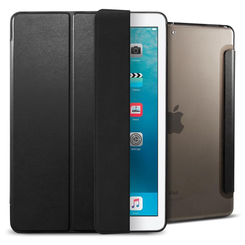 Flipové pouzdro Spigen Smart Fold pro Apple iPad 2017, černé