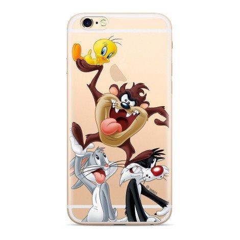 Zadní kryt Warner Bros Looney Tunes 001 pro Apple iPhone XS, transparent