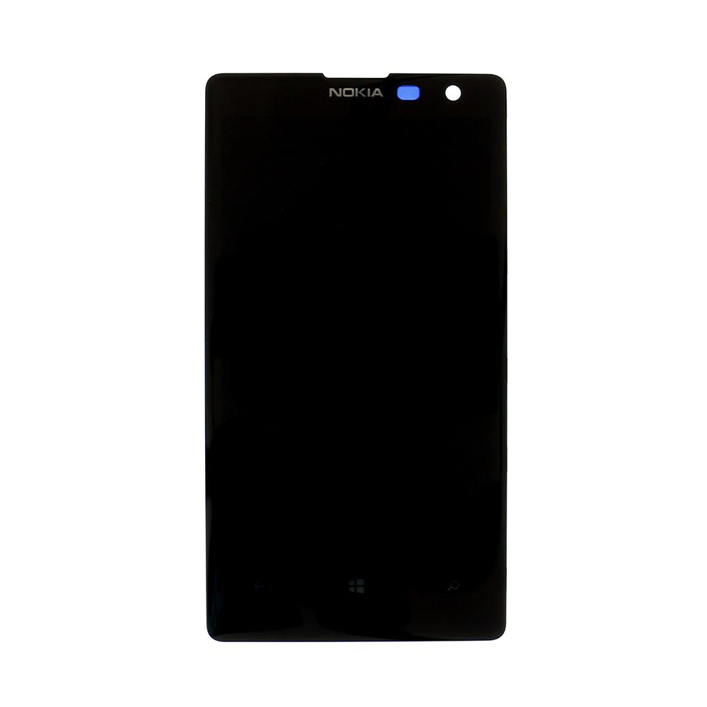 LCD + dotyk + rámeček pro Nokia Lumia 830, black OEM