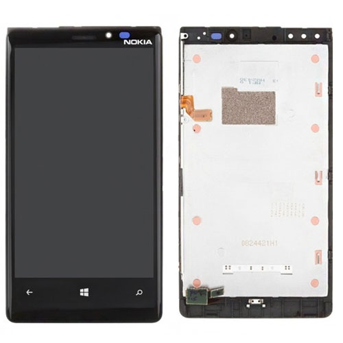 LCD + dotyk + rámeček pro Nokia Lumia 920, black OEM