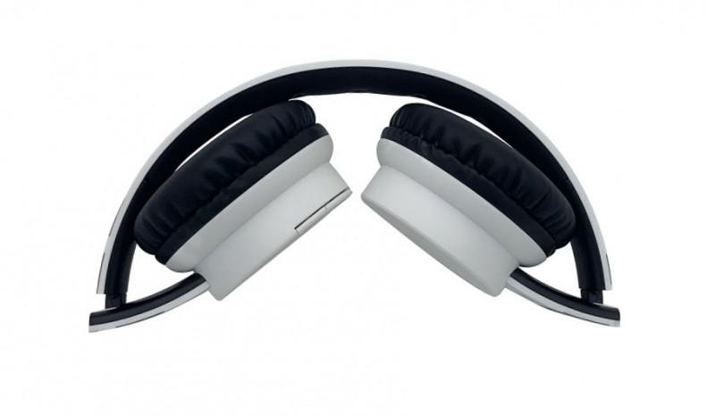 Bluetooth sluchátka ALIGATOR AH02, FM, SD karta, bílá