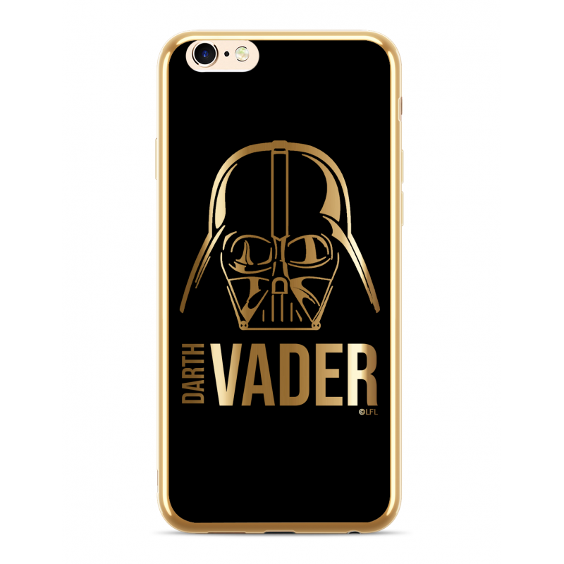Zadní kryt Star Wars Darth Vader Luxury Chrome 010 pro Apple iPhone XS Max, gold