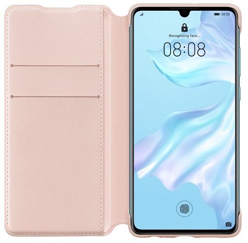 Flipové pouzdro Huawei Original Wallet pro Huawei P30, Pink