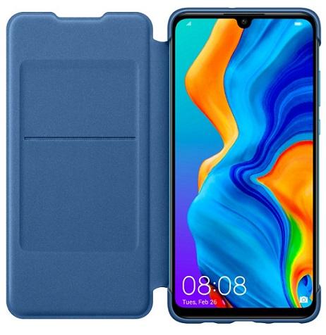 Flipové pouzdro Huawei Original Wallet pro Huawei P30 Lite, blue